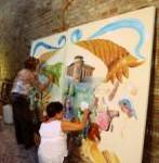 """Gli """"Amici dell'Arte"""" realizzano due  tele in onore di Pellegrino Artusi"""