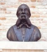 Il busto di Pellegrino Artusi donato alla città di Forlimpopoli dallo scultore Bunaza