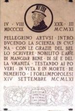 lapide commemorativa di Artusi